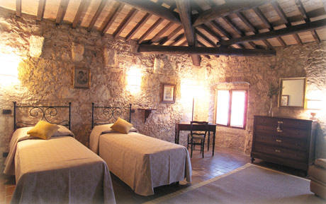 una camera doppia del bed & breakfast I Costanti